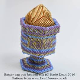 Easter egg cup beaded box pattern, Katie Dean, Beadflowers