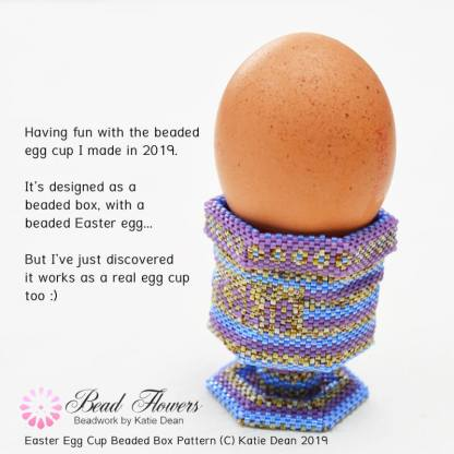 Easter egg cup beaded box, Katie Dean, Beadflowers