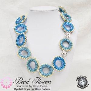 Cymbal Ring Necklace Pattern, Katie Dean, Beadflowers