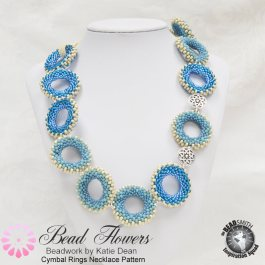Cymbal Ring Necklace Pattern, Katie Dean, Beadflowers