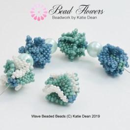 Wave Beaded Bead Pattern, Katie Dean, Beadflowers
