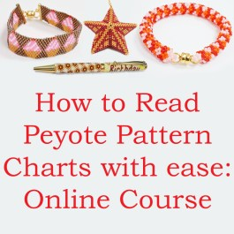 How to read Peyote stitch charts with ease: online course by Katie Dean