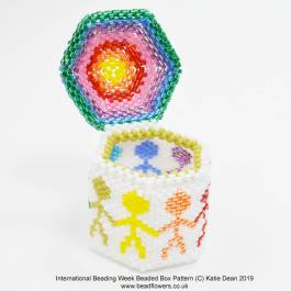 International Beading Week Beaded Box, make a beaded box online workshop, Katie Dean, Beadflowers, Most popular beading patterns for 2019