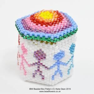International Beading Week Beaded Box Pattern, Katie Dean, Beadflowers