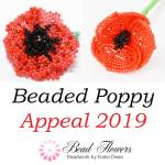Beaded Poppy Appeal, Katie Dean, Beadflowers