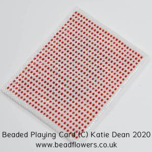 How bead crazy are you? Beaded playing cards by Katie Dean