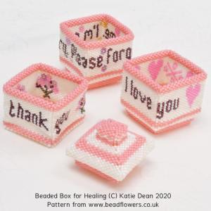 Beaded box for healing tutorial, Katie Dean, Beadflowers