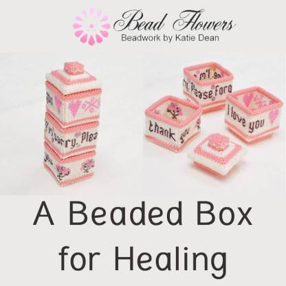 Beaded box for healing, Katie Dean, Beadflowers