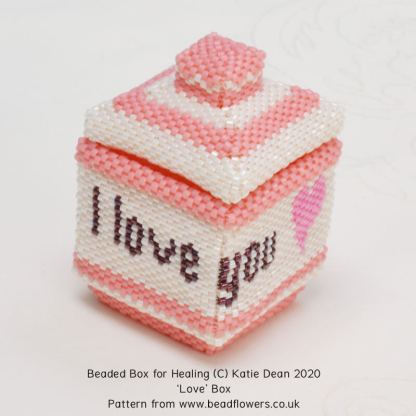 Love box, Katie Dean, Beadflowers