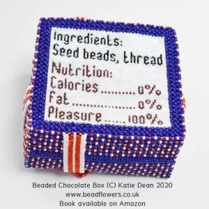 Sweet dreams, beaded chocolate box, Katie Dean, Beadflowers