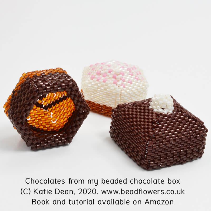 Beaded Chocolates, Katie Dean, Beadflowers