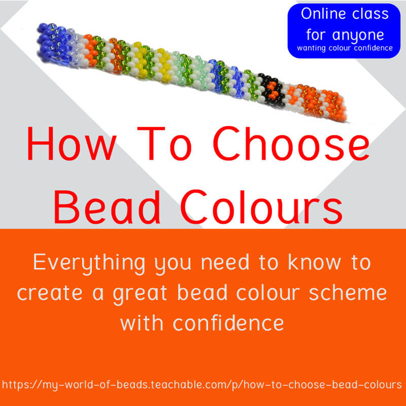 How to choose bead colours, online course with Katie Dean, Beadflowers, My World of Beads