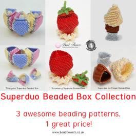 Superduo beaded box collection, Katie Dean, Beadflowers