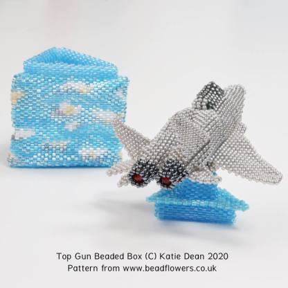 Top Gun Beaded Box Pattern, Katie Dean, Beadflowers