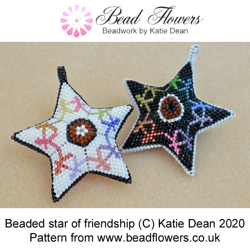 Beaded star of friendship pattern, Katie Dean, Beadflowers