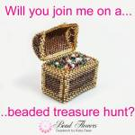 Beaded treasure hunt for international beading week, 2020, with Katie Dean, Beadflowers