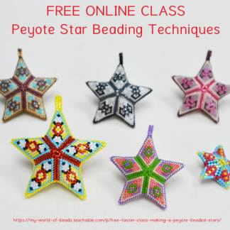 Free beading class: beaded star techniques, Katie Dean, Beadflowers, My World of Beads
