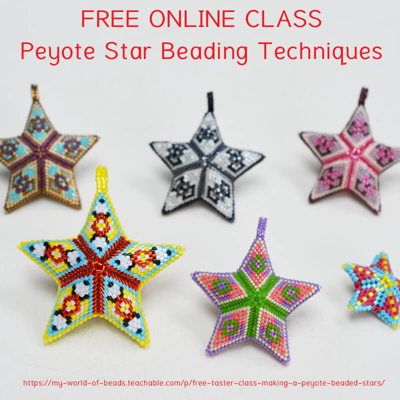 Free online class: Peyote star beading techniques, Katie Dean