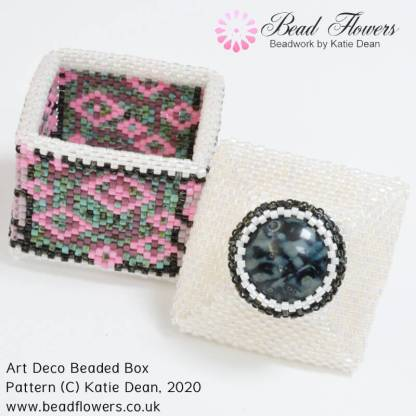 Art Deco beaded box pattern, Katie Dean, Beadflowers