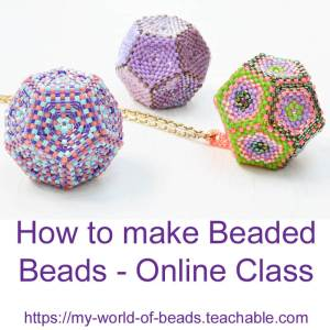 How to make beaded beads online class with Katie Dean