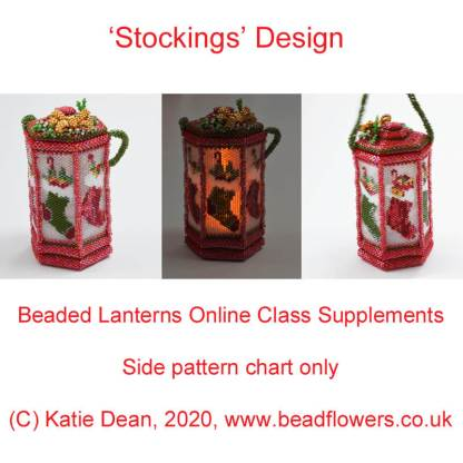 Beaded Christmas Lanterns Online Class with Katie Dean, Stockings Lantern Design