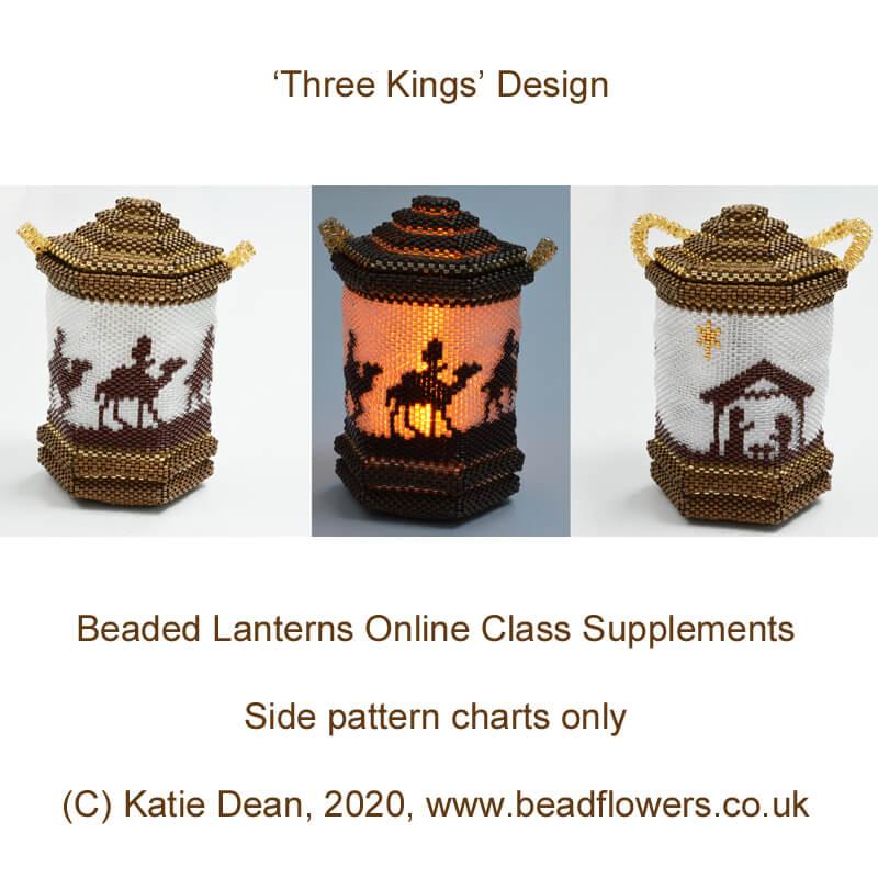 Beaded Christmas Lanterns, Katie Dean, Beadflowers