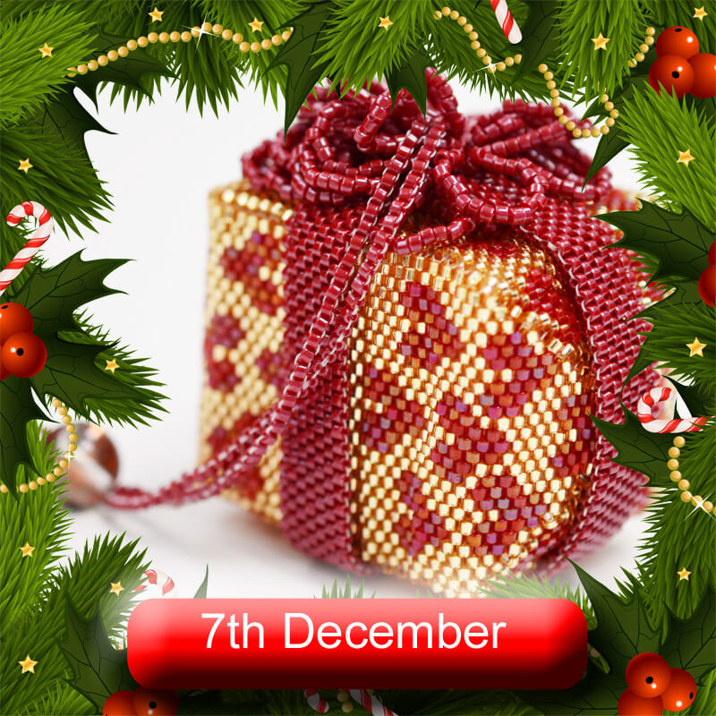 7th December Advent Calendar, Katie Dean, Beadflowers