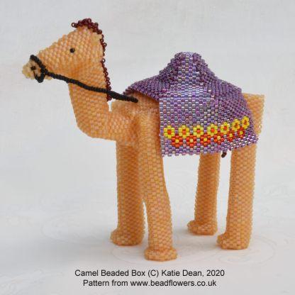 Camel Beaded Box Pattern, Katie Dean, Beadflowers