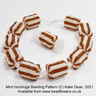 Mint Humbugs Beading Pattern, Katie Dean, Beadflowers