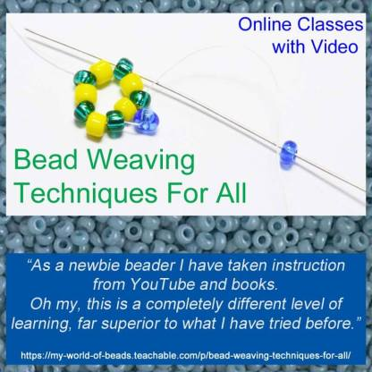 Learn Bead Weaving Techniques with Katie Dean, Online Class, My World of Beads
