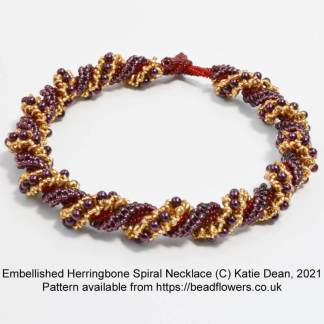 Embellished Herringbone Spiral Necklace, Katie Dean, Beadflowers