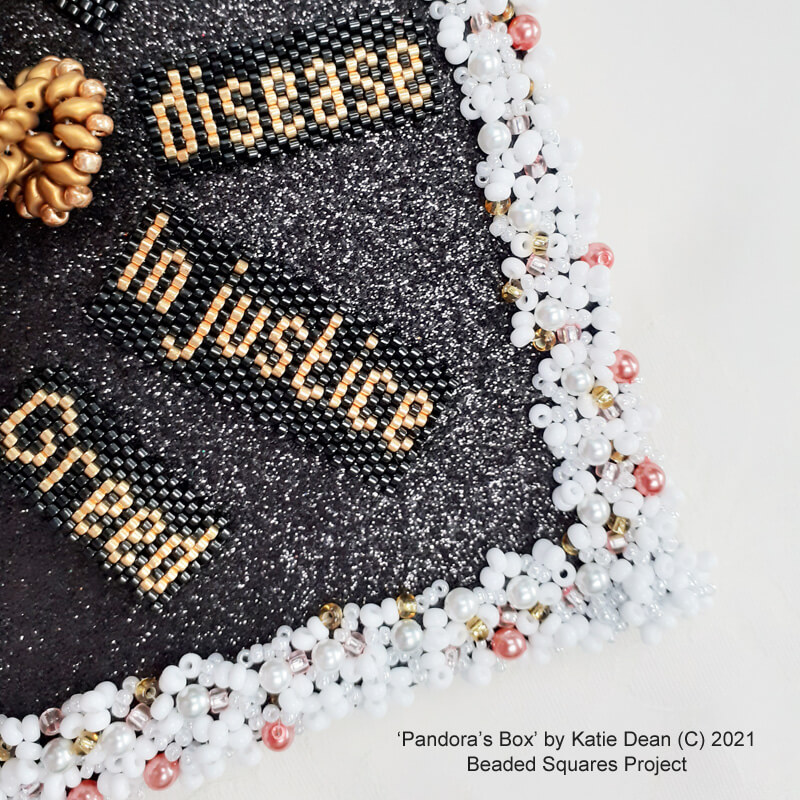 Pandora's Box, beaded square project by Katie Dean