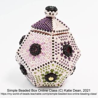 Simple beaded box online class with Katie Dean