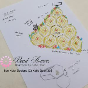 The Bee Hotel Online Beading Class for International Beading Week 2021