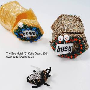 The bee hotel beadalong for International Beading Week 2021, with Katie Dean