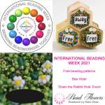 International Beading Week 2021, free beading patterns, beadalong, competitions and more from Katie Dean, Beadflowers