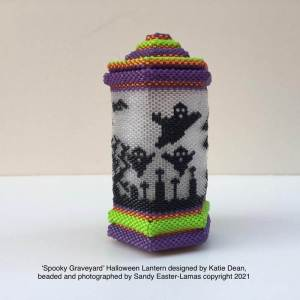 Beaded Halloween lantern competition results, entry by Sandy Easter-Lamas