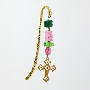 spring cross bookmark