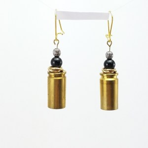 Black & Gold Spent Brass Earrings