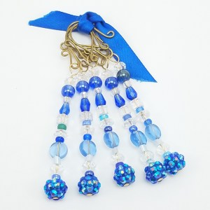 deep blue icicle ornaments