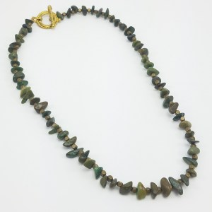 green and gold natural stone necklaces