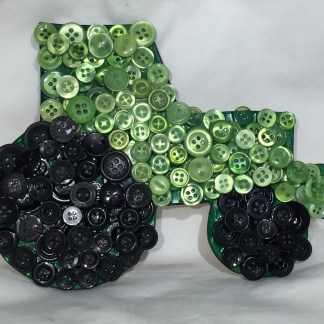 Button mosaic tractor