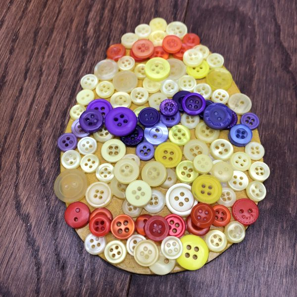 Easter egg button mosaic