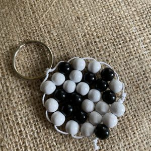 Beaded Football Keyring
