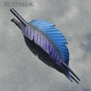 fantasy raven feather barrette