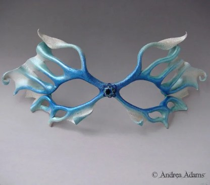 filigree leather fairy mask