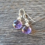 faceted ametrine teardrop earrings with sterling silver