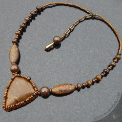 Beaded Bronzite Necklace