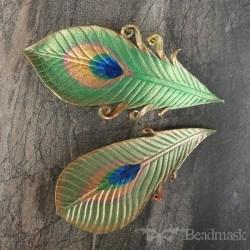 medium peacock barrette