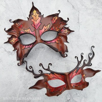 autumn leaves duet masks
